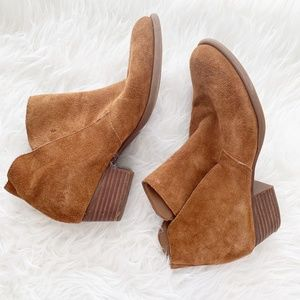 Jessican Simpson Tandra Tan Suede Ankle Bootie 8M